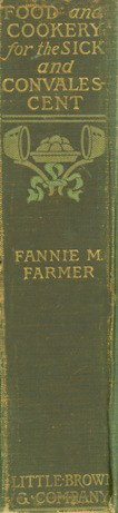 Food and Cookery -- Fannie Farmer  spine